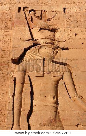 God Horus carving