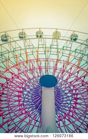 Ferris Wheel ( Filtered image processed vintage effect. )