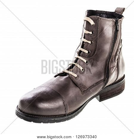 Men's Fashion Brown Boot Front