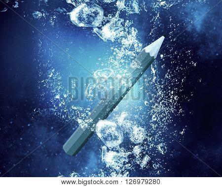 Pen under water