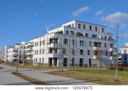 A new construction settlement in munich,germany on a sunny day..