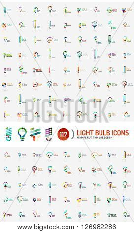 Mega collection of light bulb logos