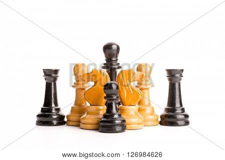 Chess figures isolated