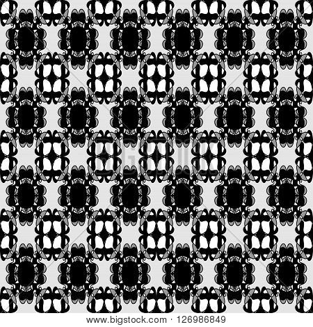 delicate seamless pattern vintage ethnic ornament on a black background vector illustration