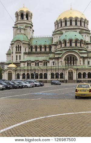 Sofia, Bulgaria - April 14, 2016: The Alexander Nevsky Cathedral In Sofia, Bulgaria