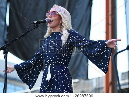 FRISCO, TX-APR 23: Singer Ashley Monroe performs onstage during the 2016 Off The Rails Music Festival - Day 1 at Toyota Stadium in Frisco, Texas
