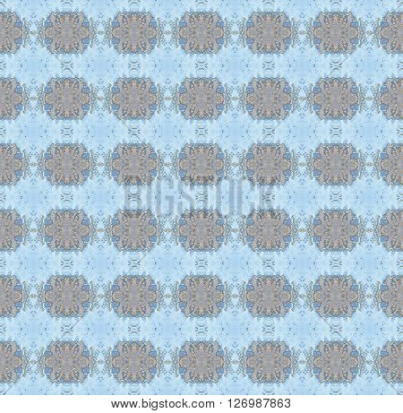 Abstract geometric seamless background. Regular ellipses pattern light gray and pastel blue.