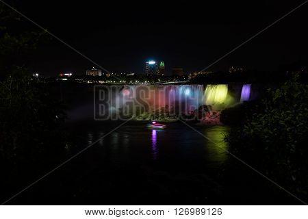 Niagara falls view from Canadian side Canada