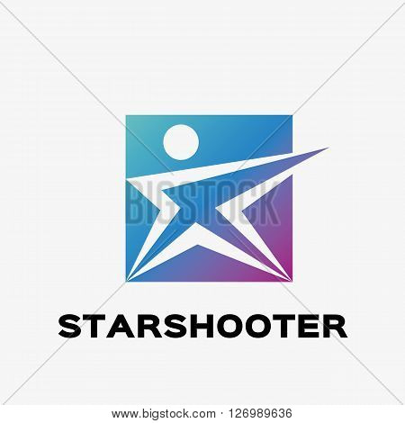 Abstract shooter logo. Abstract star logo design template. Logo template editable for your business.
