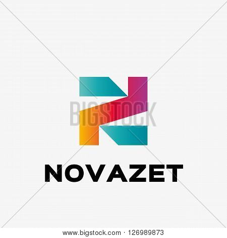 Abstract letter N logo. Abstract business logo design template. Logo template editable for your business.