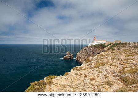 Lighthouse of Cabo de Sao Vicente SagresAlgarvePortugal (built in october 1851)