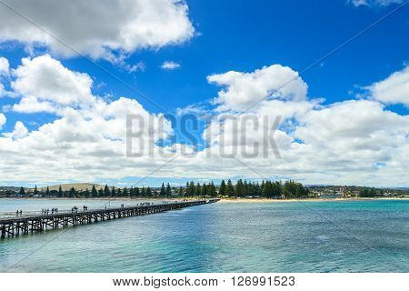 Victor Harbor jetty view from Granite Island South Australia