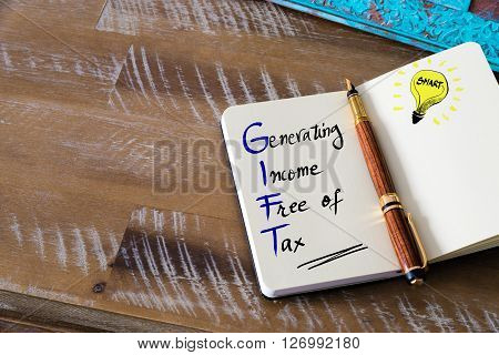 Acronym Gift Generating Income Free Of Tax