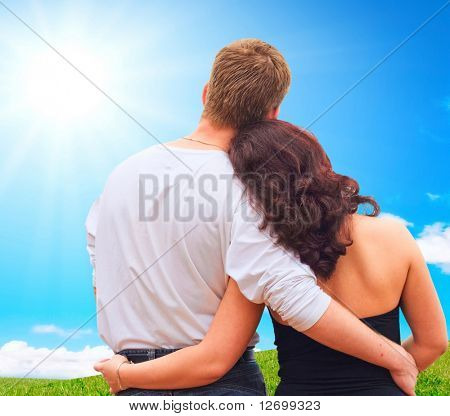 Pareja de enamorados juntos