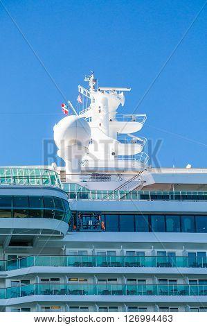 Cruise Ship Anchored off the coast of Bar Harbor Maine