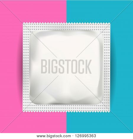 White Blank Foil Pouch Packaging For Medicine Drugs Coffee Salt Sugar Pepper Spices Sachet Sweets Or Condom. Isolated Mock Up Wrapper Template for Branding. Product Package.
