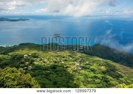 A view from Mahe Seychelles main island