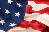 picture of the united states america  - close up of flag of the united states of america - JPG