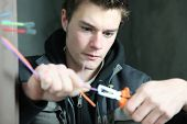 stock photo of electrician  - Electrician - JPG