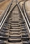 image of crotch  - rail road goes to different ways   - JPG