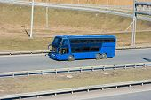 blue tourist bus - See similar images of this