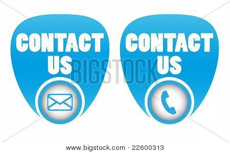 Contact icons for web