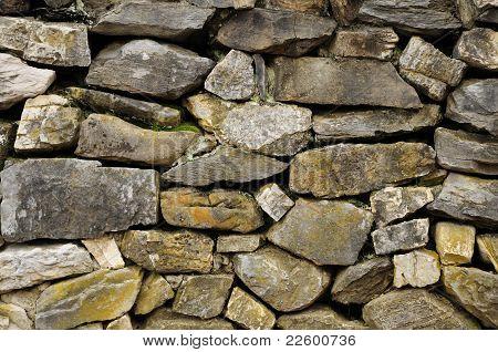 Wall Of Non-masonary Rock