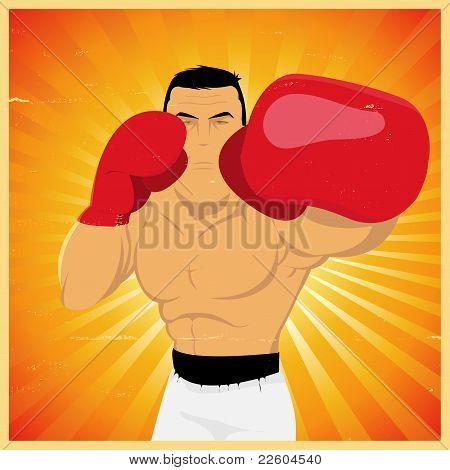 Left Jab - Grunge Boxer Poster