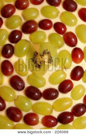 Grape And Kiwi Fruit Cheesecake