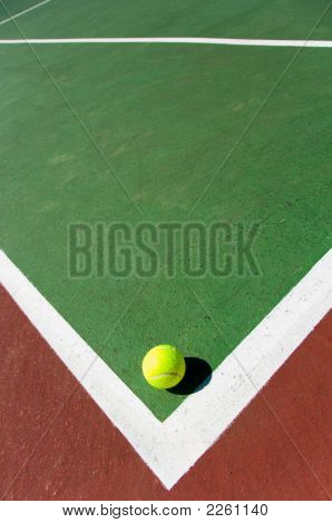 Tennis Balls On Court