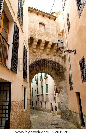 arches of Barrio Calatrava Los Patios in Majorca at Palma de Mallorca Balearic Islands