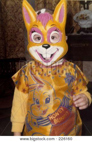 Child In Bunny Costume