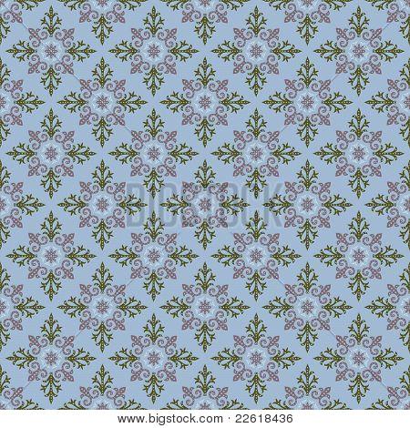 Plaid Seamless Pattern On  Blue