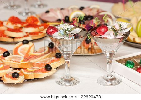 Festive Table With Wine Glasses