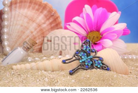 Butterfly Jewelry On Beach