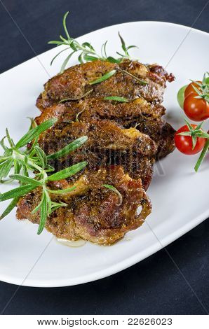 Grilled Cervical Chop With Herbs