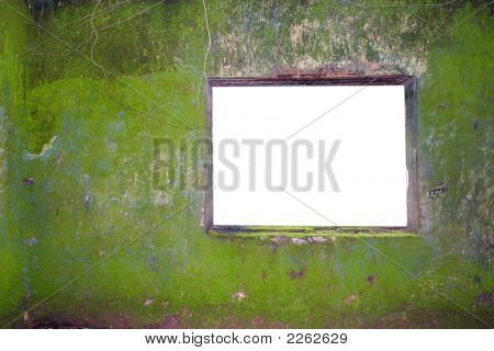 Tropical Wall And Blank Window