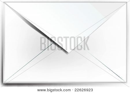 White envelope. Mail. Icon. E-mail