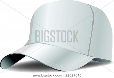 White baseball cap. Isolate. Vector
