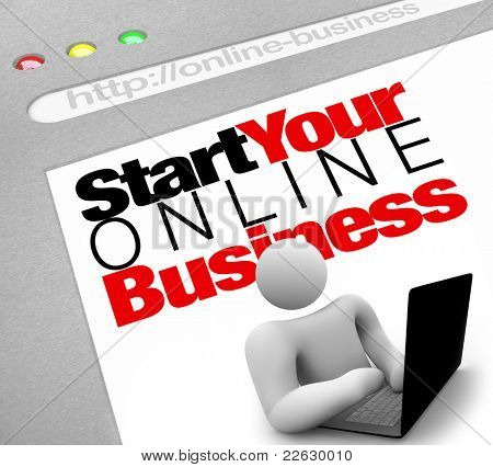 A website screen promises to instruct you on how to set up and launch your own web presence for your internet business in order to generate traffic and drive sales