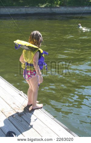 Toddler On Dock