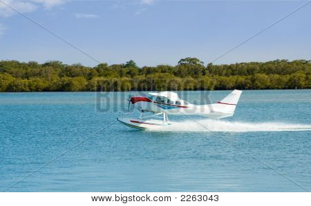Seaplane Floatplane Takeoff