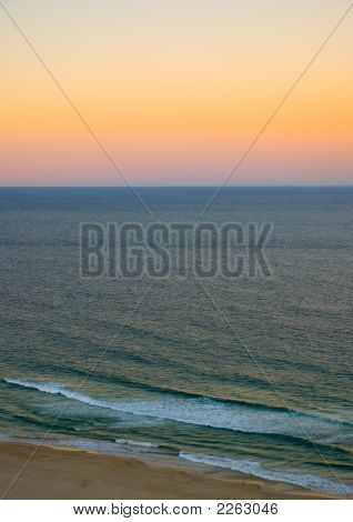 Surfers Paradise Ocean Sunset