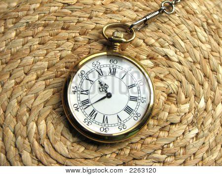 Timepiece On Wicker