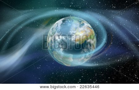 Wireless Energy Surrounding Earth