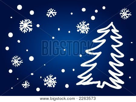 Christmas Tree Freehand (Illustration)