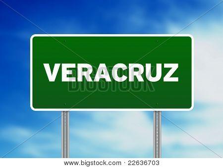 Green Road Sign - Veracruz