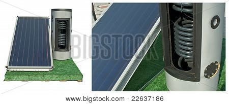 Baterías solares y calentador