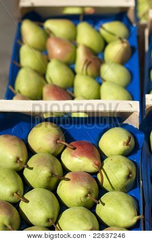 Pears In The Crates In Wholesale Market