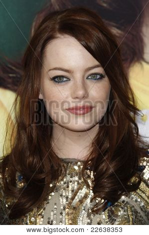 LOS ANGELES - SEP 13: Emma Stone at the premiere of 'Easy A' at the Grauman's Chinese Theater, Los Angeles, California on  September 13, 2010 in Los Angeles, California